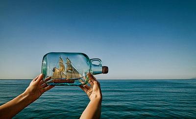 стъкло, стъклена бутилка